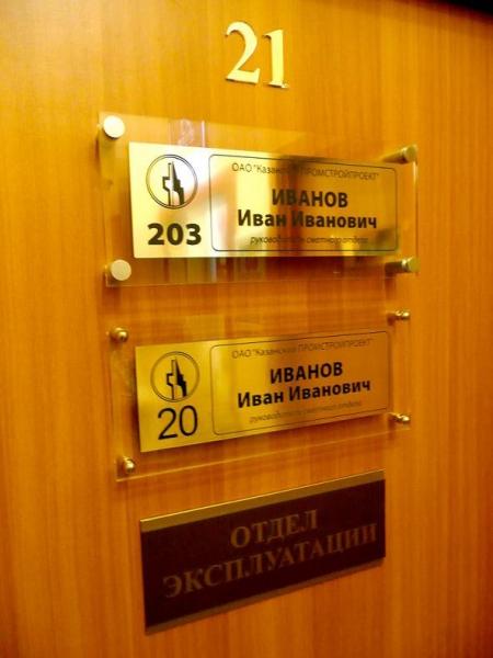 Разновидности табличек на кабинеты
